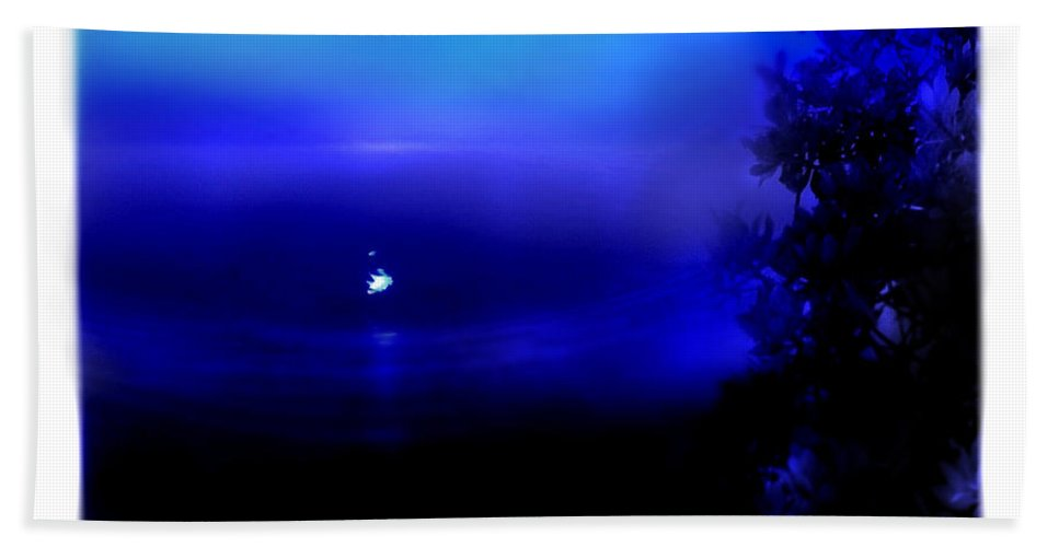 Moon Beach Towel featuring the photograph Misty Mangrove Moon Reflection by Mal Bray