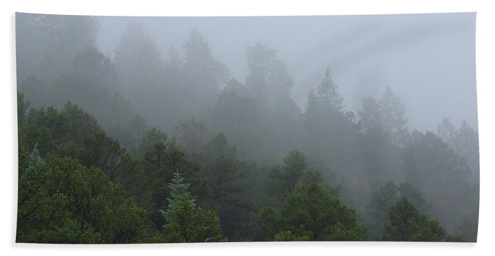 Mountain Beach Towel featuring the photograph Misty Mountain Morning by Charles and Melisa Morrison