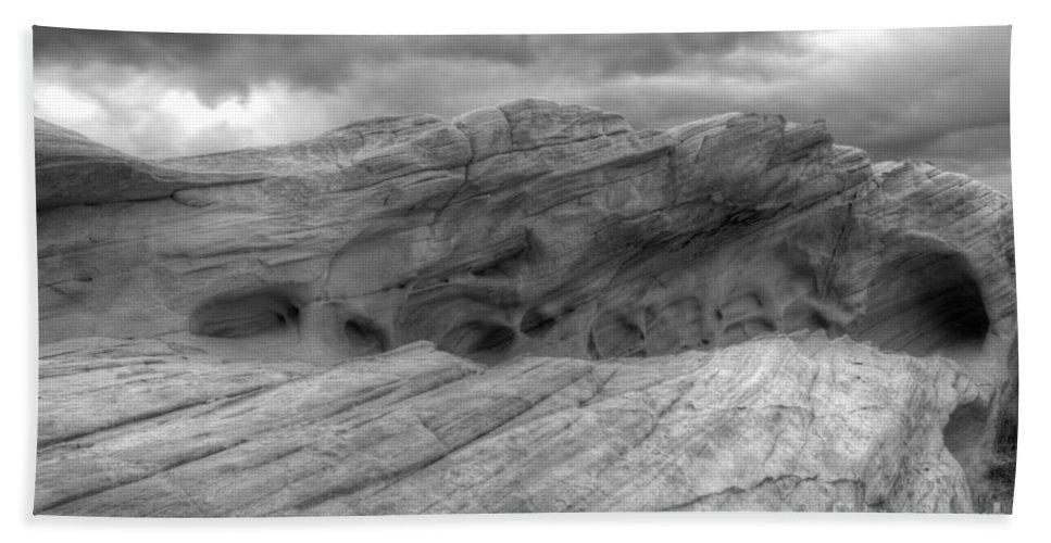 Monochrome Beach Towel featuring the photograph Monochrome Landscape Project 3 by Bob Christopher