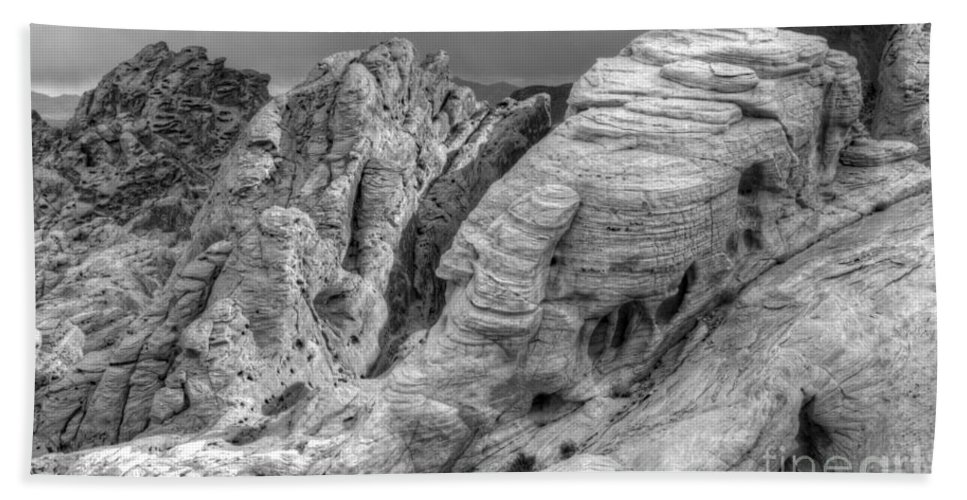 Monochrome Beach Towel featuring the photograph Monochrome Landscape Project 4 by Bob Christopher