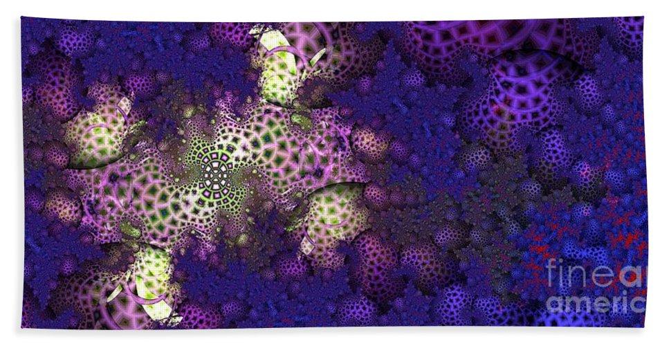 Fractal Beach Towel featuring the digital art Morel by Ron Bissett