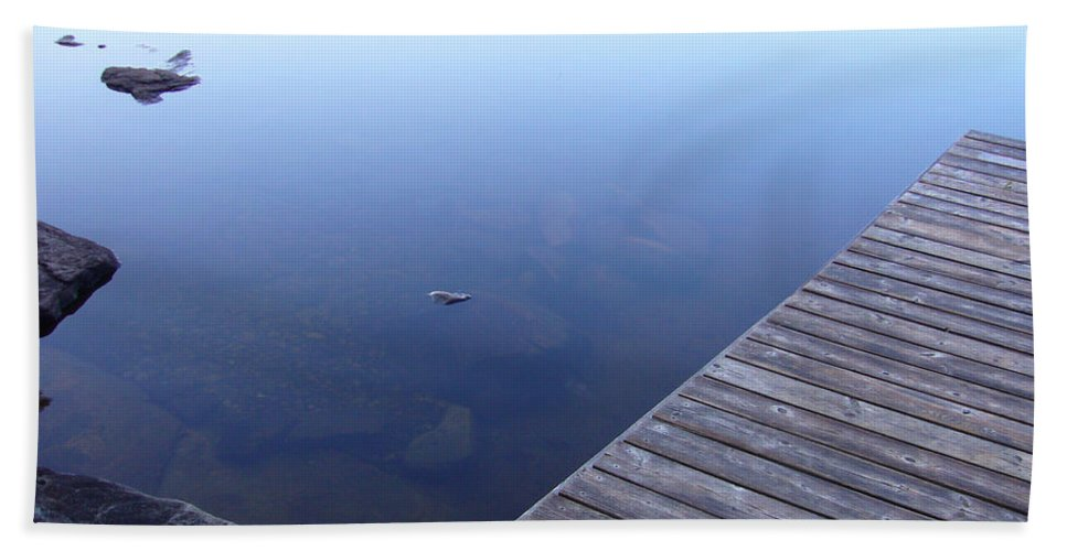 Morning Beach Towel featuring the photograph Morning Dock by Shirley Radebach