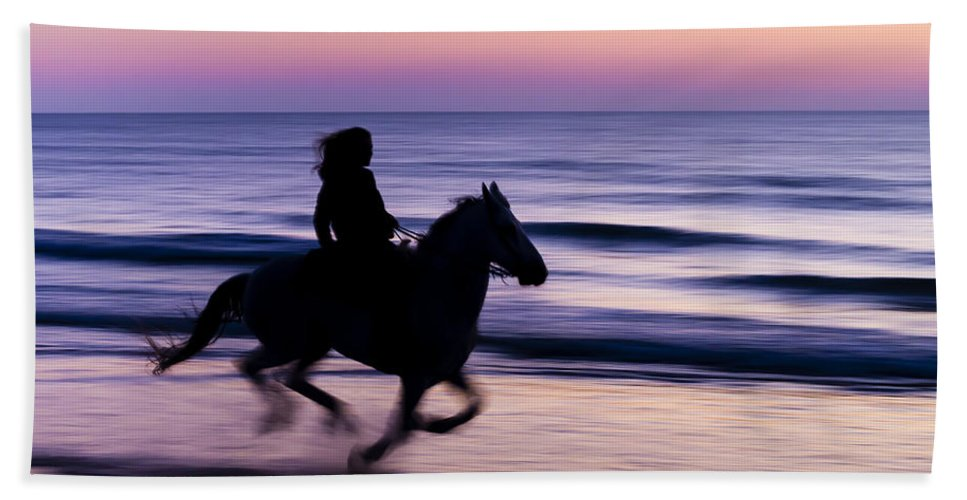 Horse Beach Towel featuring the photograph Morning Glow by Janet Fikar