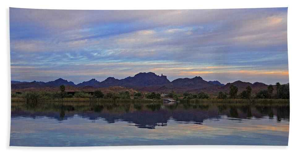 Morning Beach Towel featuring the photograph Morning Light On The River by Lynn Bauer