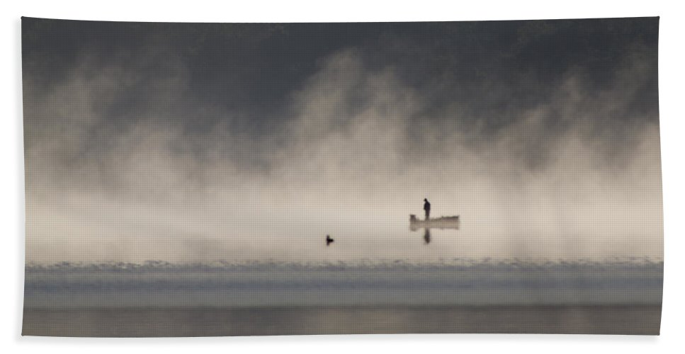 Fog Beach Towel featuring the photograph Morning On The Lake 2 by Dan Wells