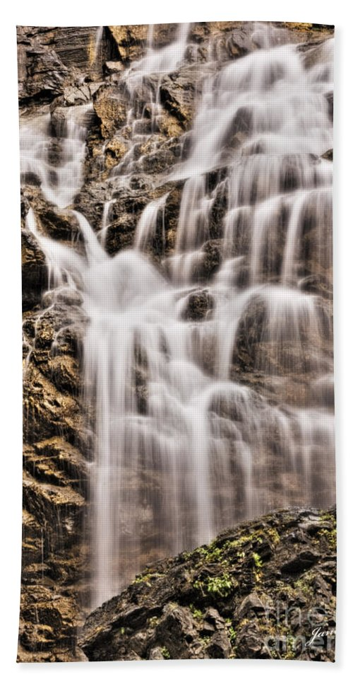 Morrell Falls Beach Towel featuring the photograph Morrell Falls 1 by Janie Johnson