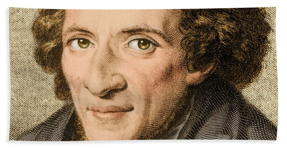 History Beach Towel featuring the photograph Moses Mendelssohn, German Philosopher by Photo Researchers