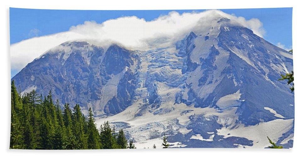 Washington Beach Towel featuring the photograph Mount Adams by Tikvah's Hope
