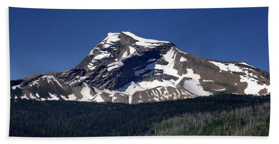 Mount Geduhn Beach Towel featuring the photograph Mount Geduhn Livingston Range Glacier National Park Usa by Paul Cannon