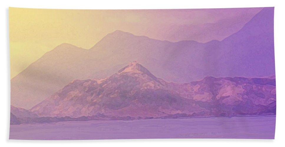 St Kitts Beach Towel featuring the photograph Mountain Morning Sunrise by Ian MacDonald