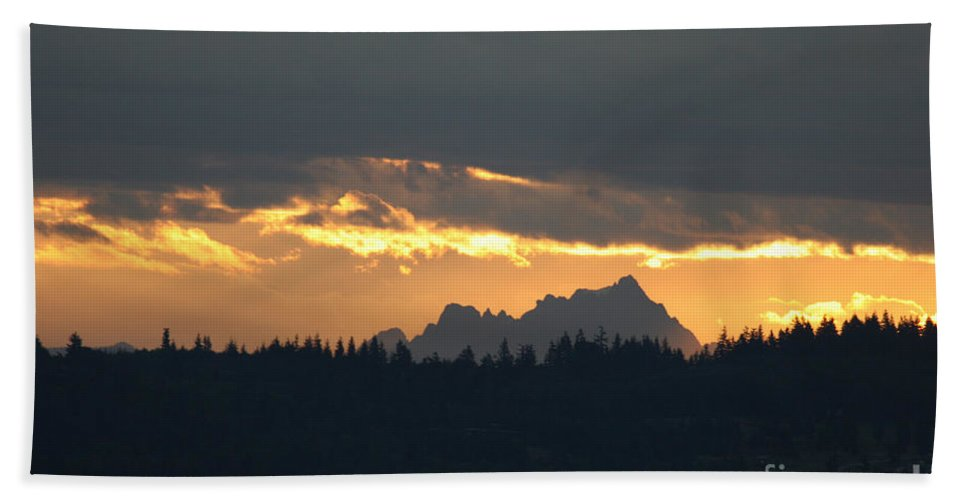 Mountain Beach Towel featuring the photograph Mountain Sunrise by Tap On Photo