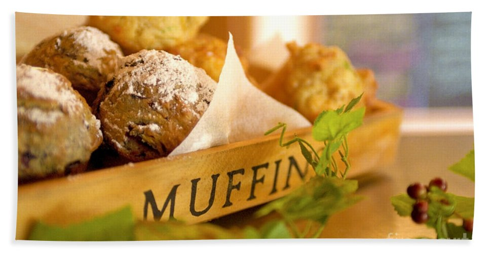 Baking Beach Towel featuring the photograph Muffins Fresh And Warm by Bruce Stanfield