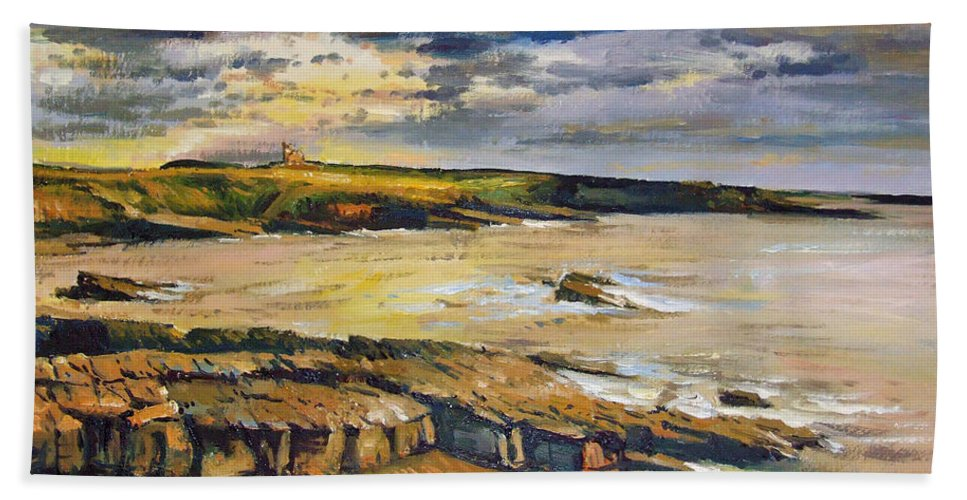 Mullaghmore Sligo Beach Towel featuring the painting Mullaghmore County Sligo by Conor McGuire