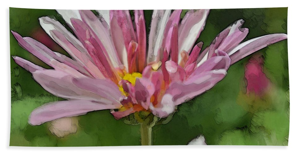 Nature Beach Towel featuring the photograph Mum Is In The Pink Digital Painting by Debbie Portwood
