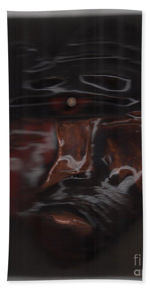 First Star Art Beach Towel featuring the sculpture Murder By Jrr by First Star Art