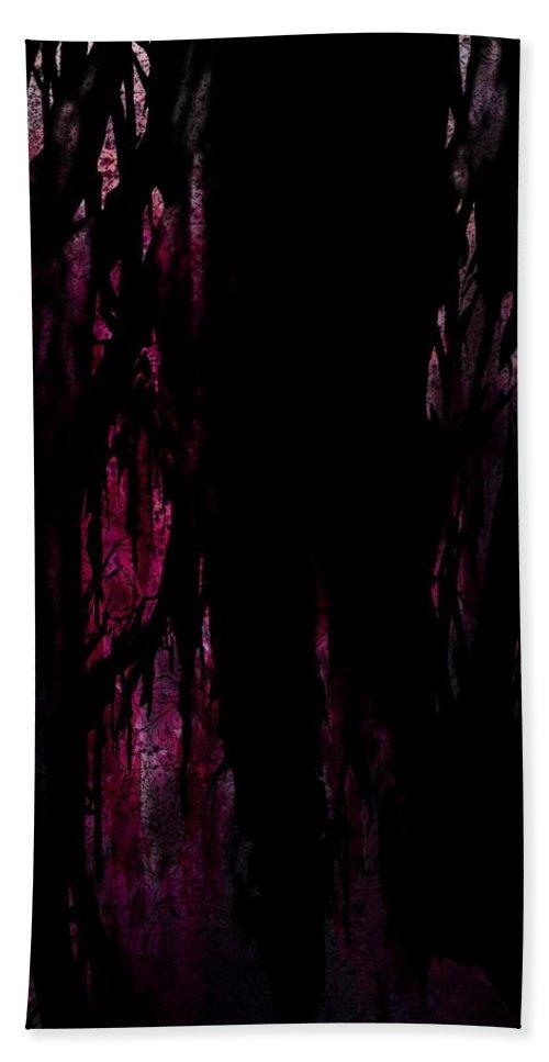 Murder Beach Towel featuring the digital art Murdered by Rachel Christine Nowicki