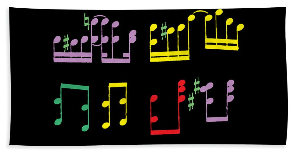 Musical Notes Beach Towel featuring the photograph Musical Notes by James Hill