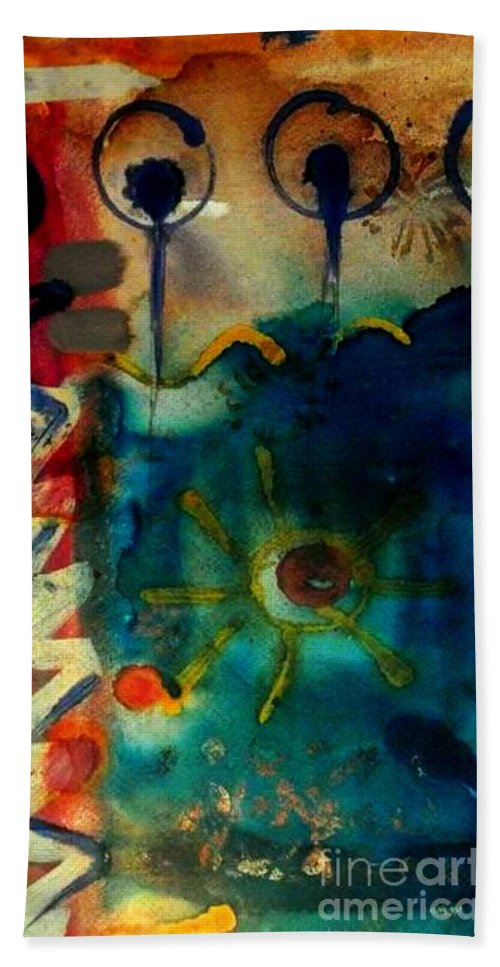 Acrylic Beach Towel featuring the painting My Own Painted Desert - Wip by Angela L Walker