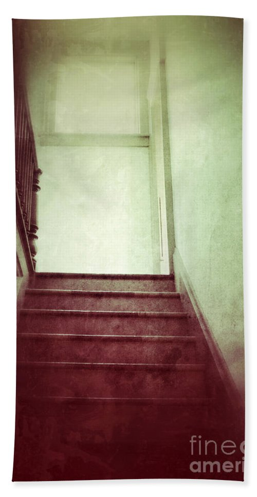 Stairs Beach Towel featuring the photograph Mysterious Stairway by Jill Battaglia