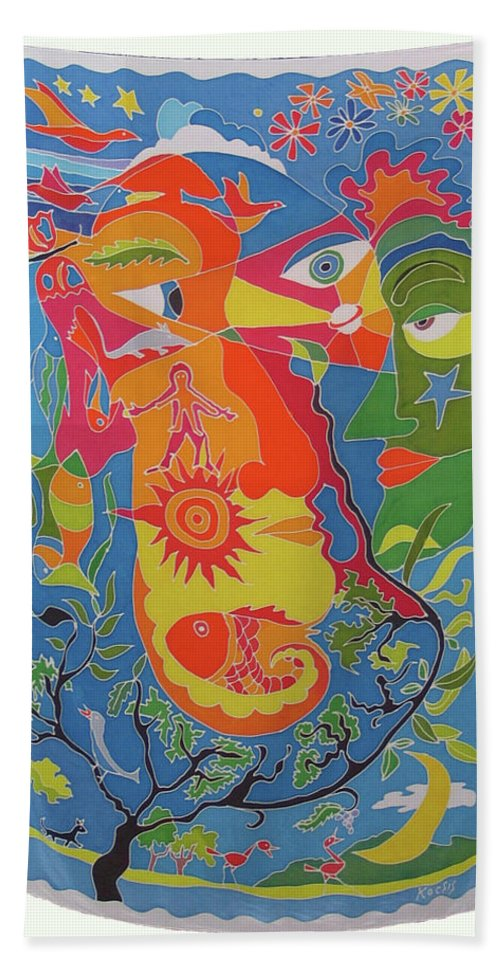 Nature Beach Towel featuring the painting Nature by Rollin Kocsis