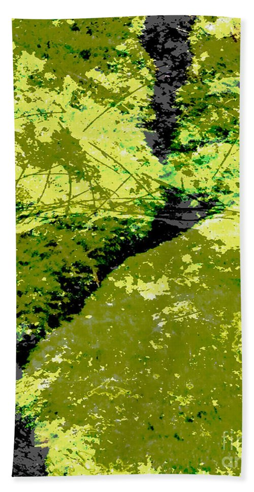 Moss Beach Towel featuring the digital art Nature Study by Lizi Beard-Ward