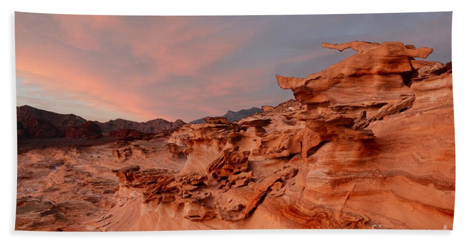 Little Finland Beach Towel featuring the photograph Natures Artistry At Little Finland by Bob Christopher