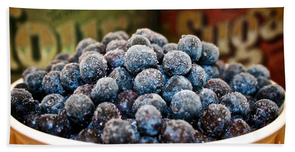 Blueberries Beach Towel featuring the photograph Nature's Candy by Susan Herber