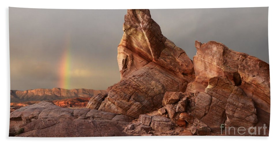 Sandstone Beach Towel featuring the photograph Natures Grace by Bob Christopher