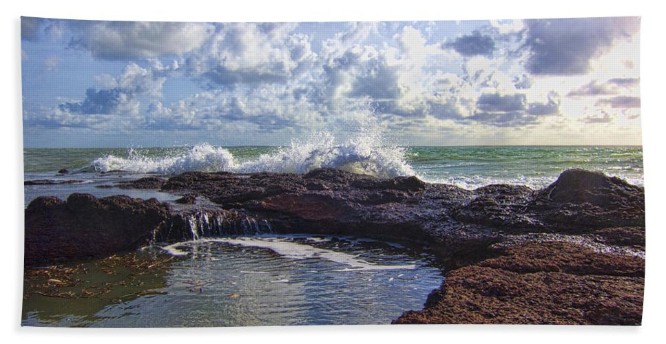Nature's Beach Towel featuring the photograph Nature's Hot Tub V2 by Douglas Barnard