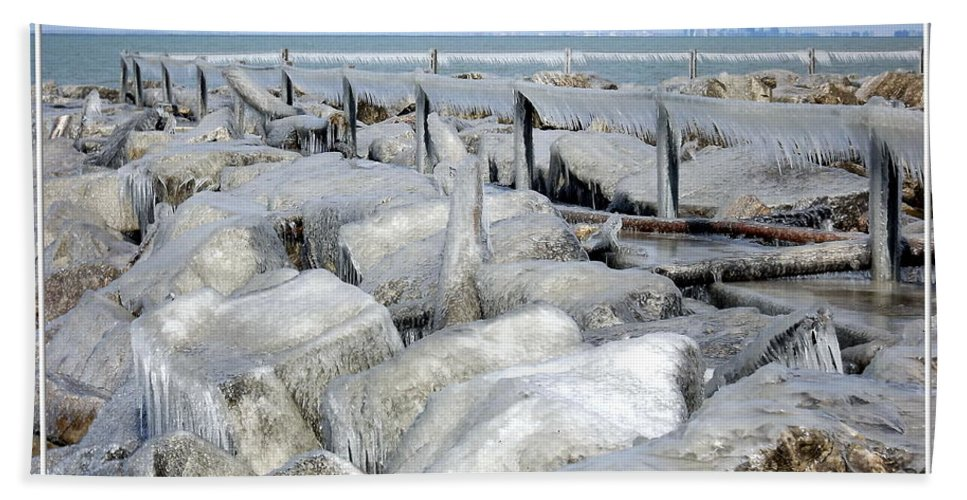 Winter Beach Towel featuring the photograph Natures Ice Sculptures 9 by Rose Santuci-Sofranko