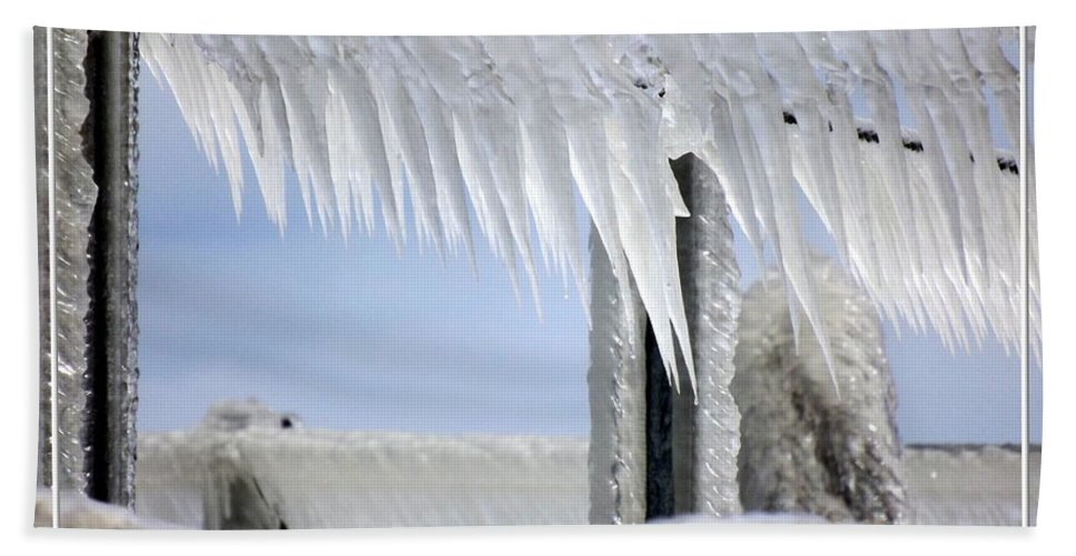 Winter Beach Towel featuring the photograph Natures Ice Sculptures1 by Rose Santuci-Sofranko
