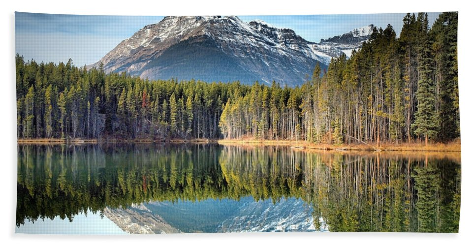Mountains Beach Towel featuring the photograph Nature's Reflections by Tara Turner