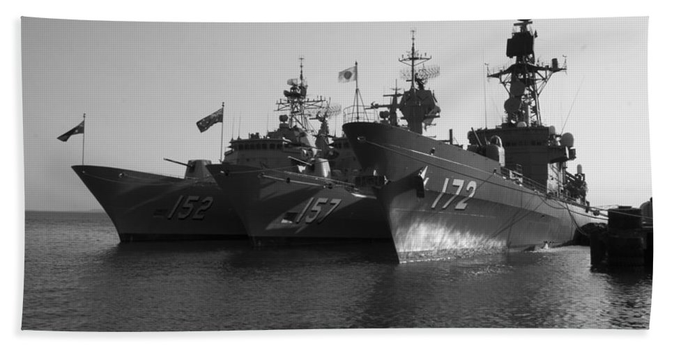 Naval Joint Operations Beach Towel featuring the photograph Naval Joint Ops V1 by Douglas Barnard