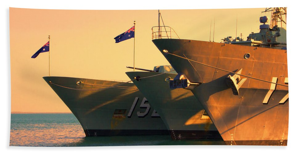 Naval Joint Operations Beach Towel featuring the photograph Naval Joint Ops V4 by Douglas Barnard