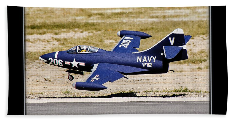 Plane Beach Towel featuring the photograph Navy Landing by Larry White