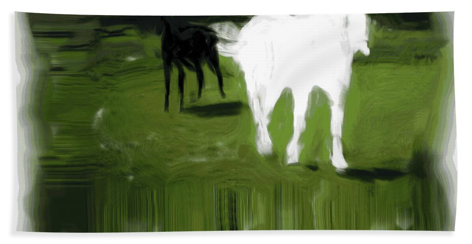 Horse Beach Towel featuring the photograph Nearly Broke An Ankle by Trish Tritz