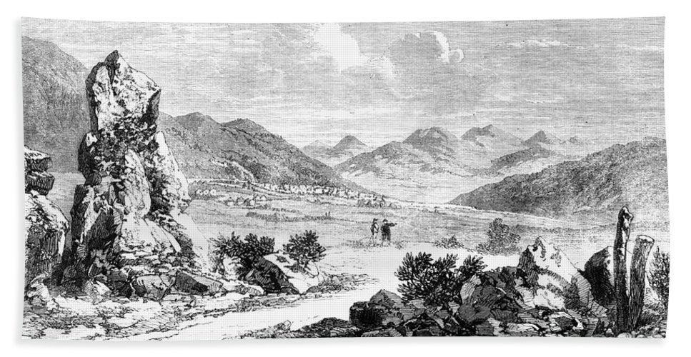 1862 Beach Towel featuring the photograph Nevada: Washoe Region, 1862 by Granger