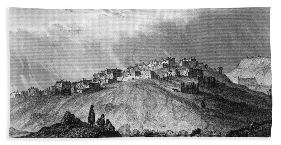 1854 Beach Towel featuring the photograph New Mexico: Laguna Pueblo by Granger