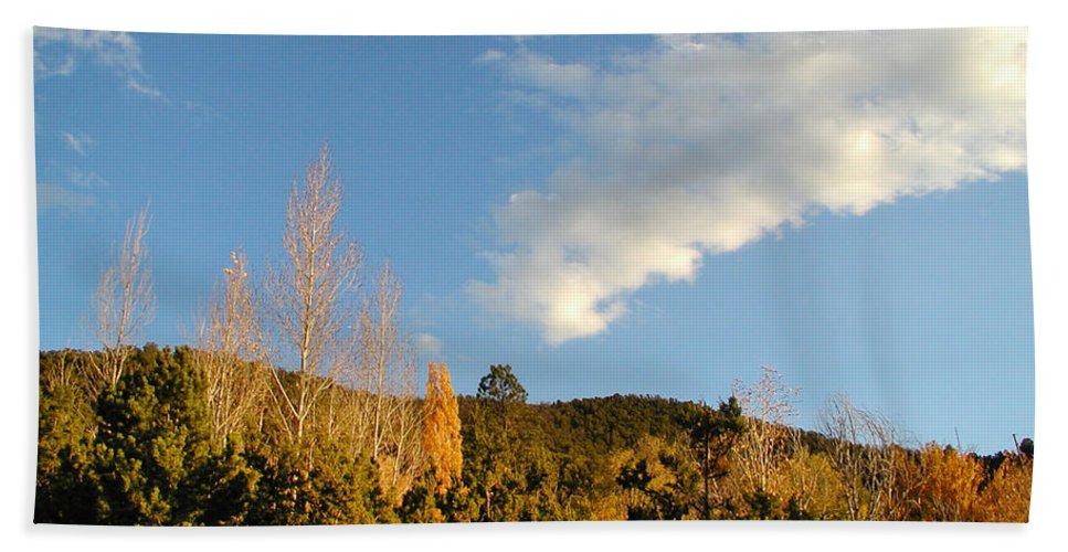Landscape Beach Towel featuring the photograph New Mexico Series - Santa Fe Landscape Autumn by Kathleen Grace