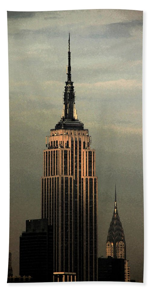 New York Beach Towel featuring the photograph New York Watercolor 1 by Andrew Fare