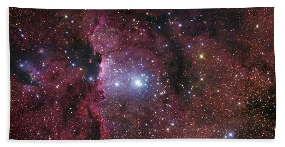 Ara Beach Towel featuring the photograph Ngc 6188, Starforming Region In Ara by Robert Gendler
