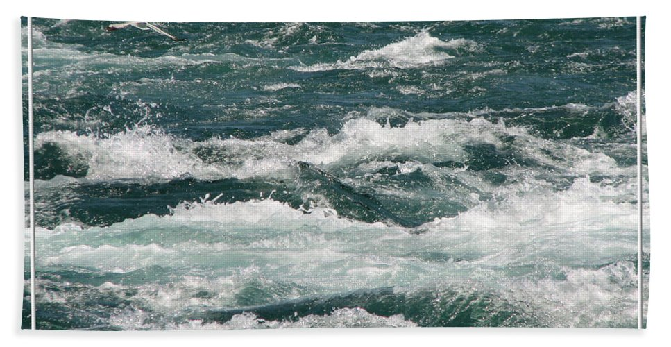 Niagara River Beach Towel featuring the photograph Niagara River Rapids 2 by Rose Santuci-Sofranko