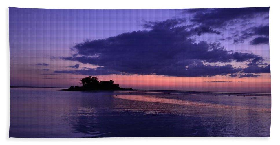 Beach Towel featuring the photograph Nightfall by Kari Tedrick