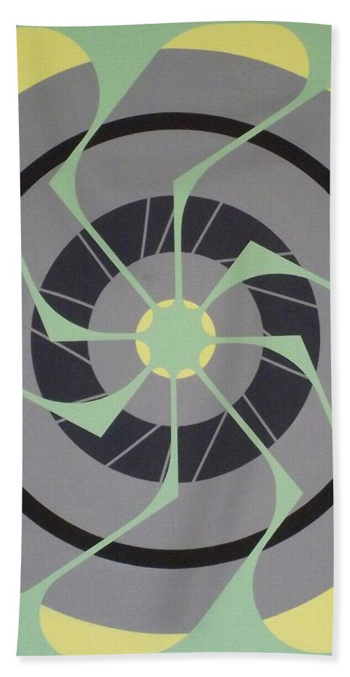 Abstract Beach Towel featuring the painting No Land Needed by James Hamilton
