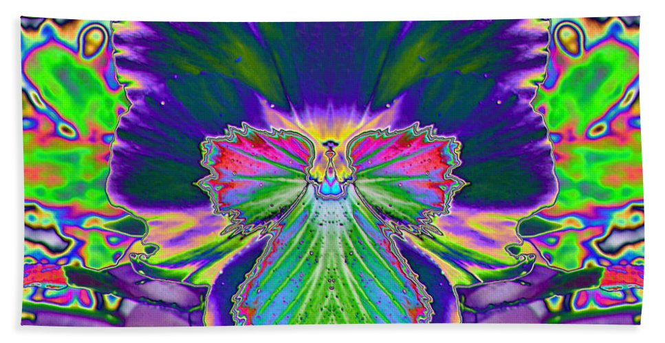 Star Photographs Beach Towel featuring the photograph No Pansy Here by Art Dingo