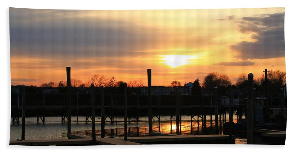 Sunset Beach Towel featuring the photograph Nobody There by Catie Canetti