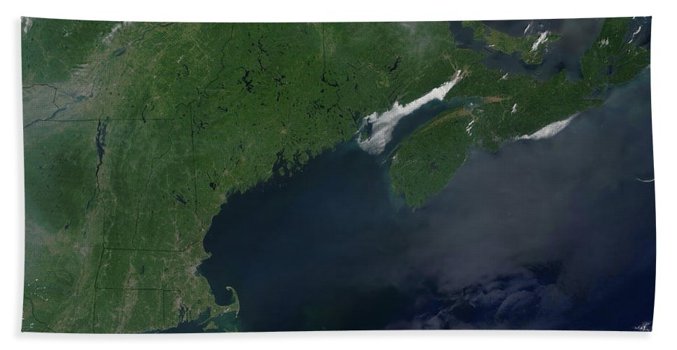 Color Image Beach Towel featuring the photograph Northeast United States And Canada by Stocktrek Images