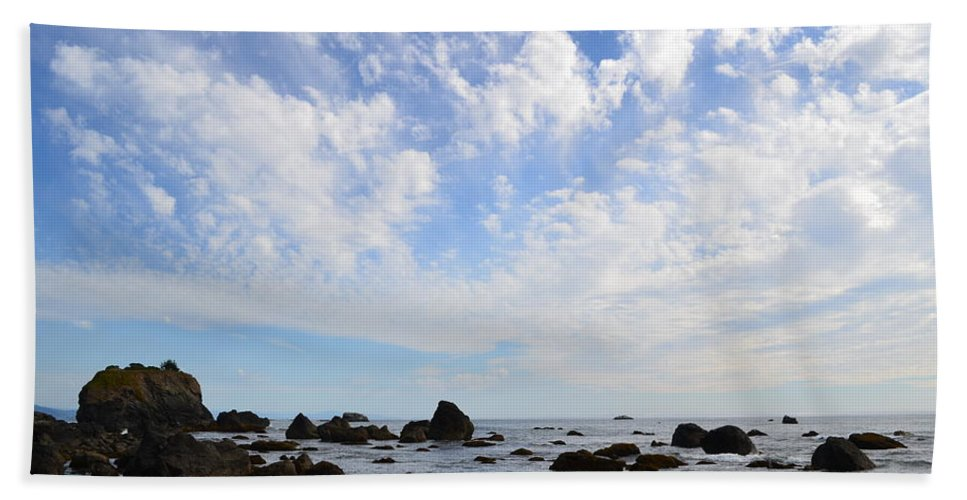 Ocean Beach Towel featuring the photograph Northern California Coast1 by Zawhaus Photography