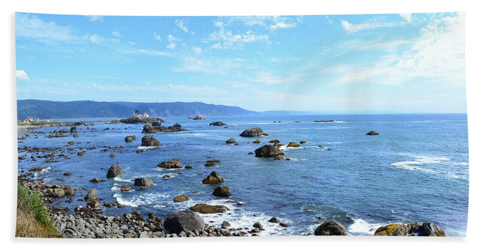 Ocean Beach Towel featuring the photograph Northern California Coast3 by Zawhaus Photography