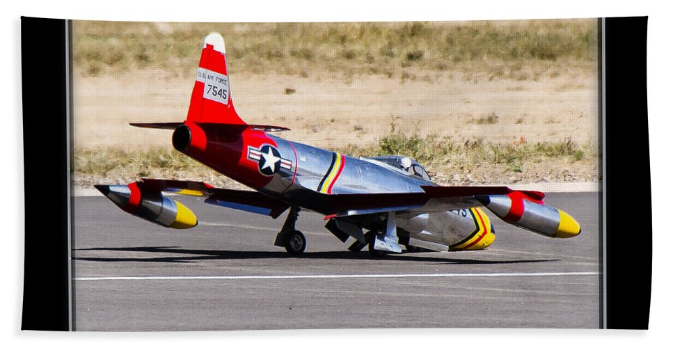 Plane Beach Towel featuring the photograph Nose Gear Trouble by Larry White